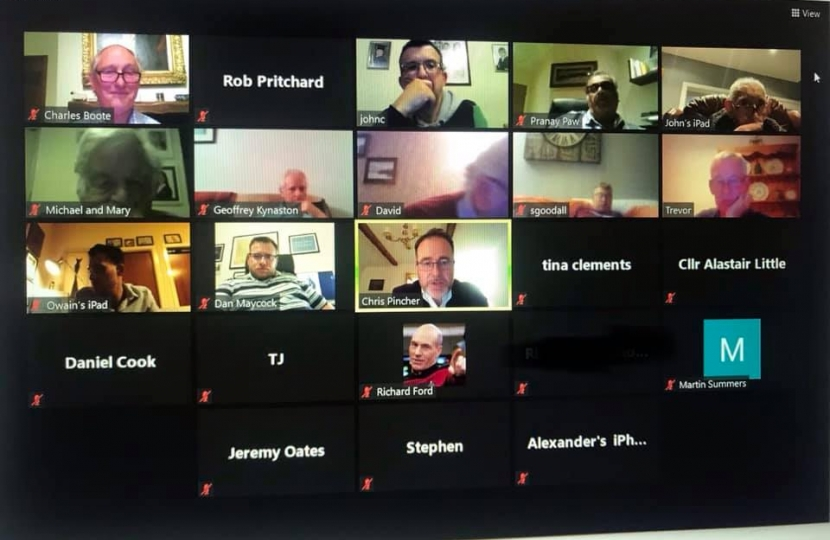Screen shot of TCA AGM